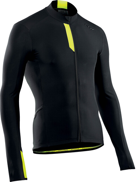 Northwave Fahrenheit Longsleeve Jersey Men black/yellowfluo